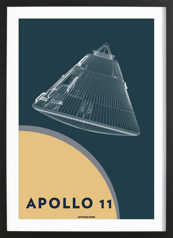 Apollo 11  Landing Module 5 -Bild mit Holzrahmen
