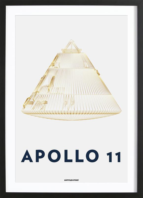 Apollo 11  Landing Module 6 -Bild mit Holzrahmen
