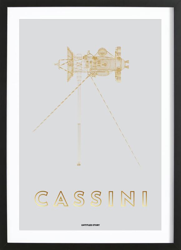 Cassini-Huygens Spacecraft -Bild mit Holzrahmen