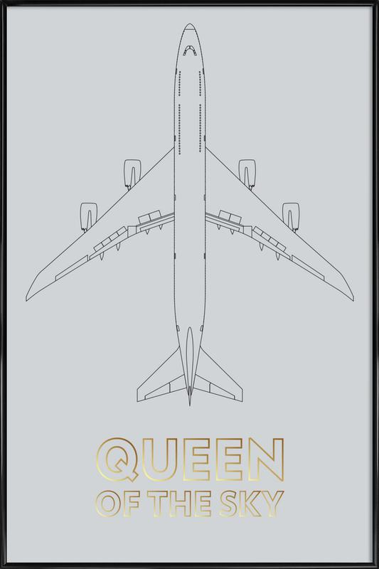 Queen of the Sky Framed Poster