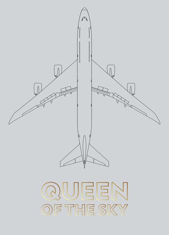Queen of the Sky canvas doek