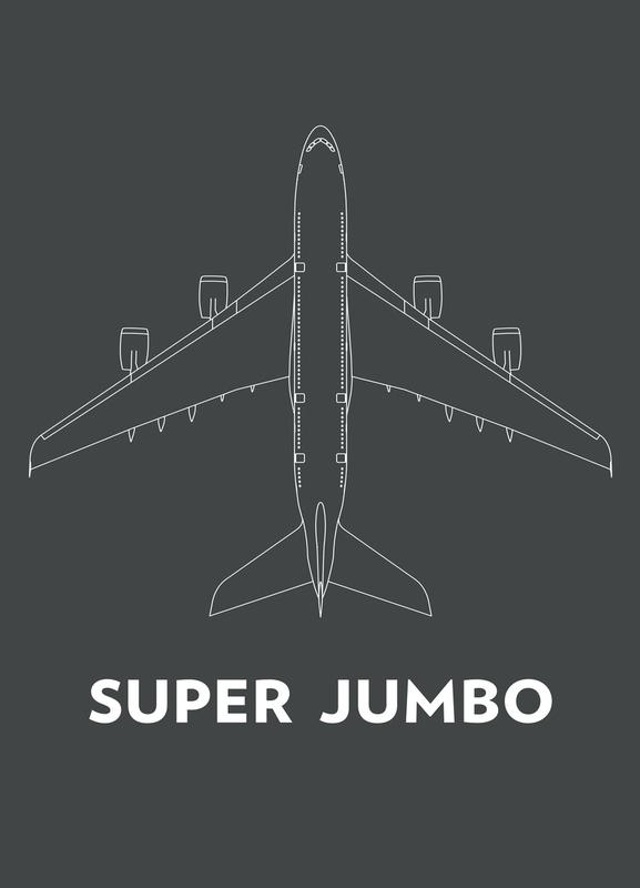 Super Jumbo Airbus A380 canvas doek