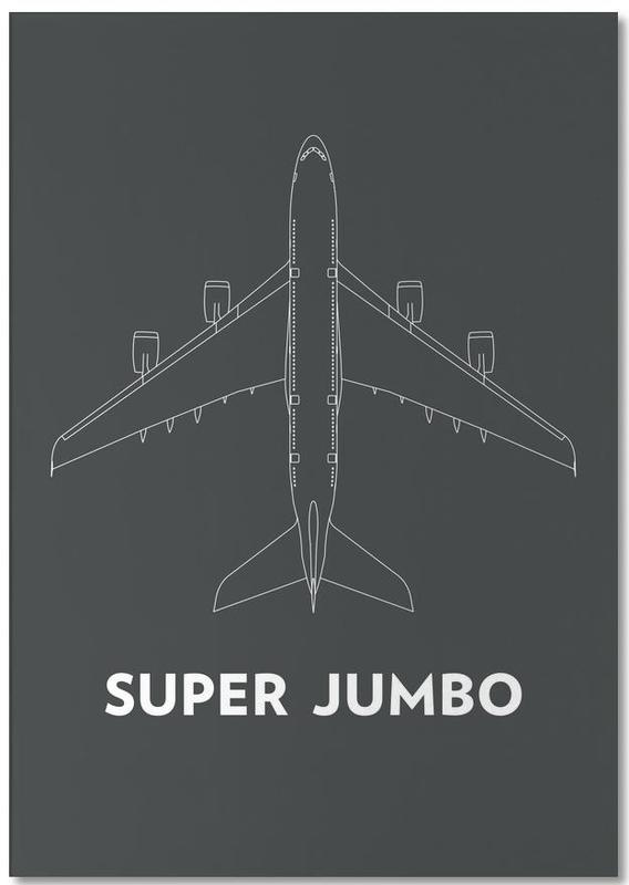 Super Jumbo Airbus A380 -Notizblock