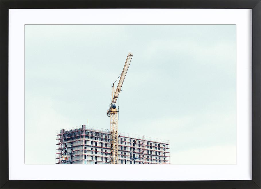 Berlin Serie 3 -Bild mit Holzrahmen