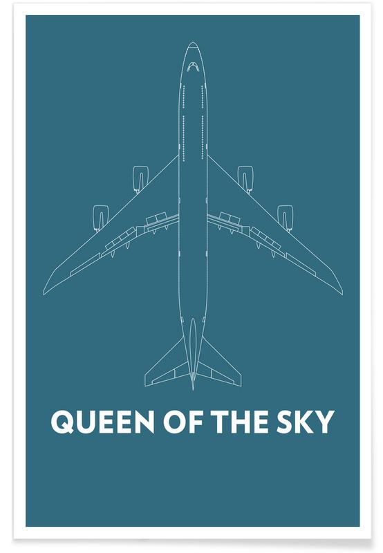 Queen of the Sky Boeing 747 affiche