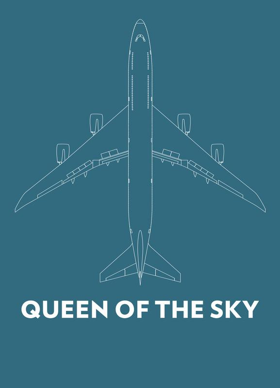 Queen of the Sky Boeing 747 canvas doek