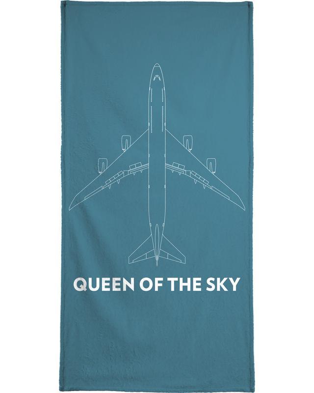 Queen of the Sky Boeing 747 Beach Towel