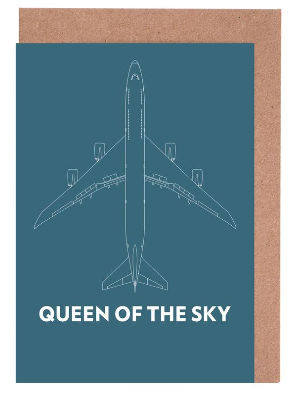 Queen of the Sky Boeing 747 Greeting Card Set