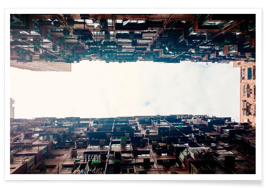 Gratte-ciels, Hong Kong, Hong Kong Quarry Bay affiche