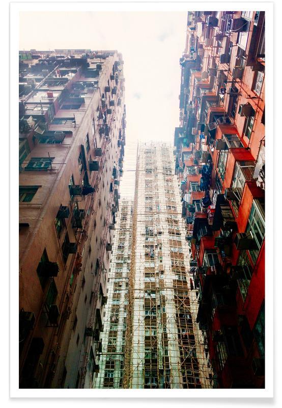 Skyskrapor & höghus, Hongkong, Hong Kong Architecture Poster