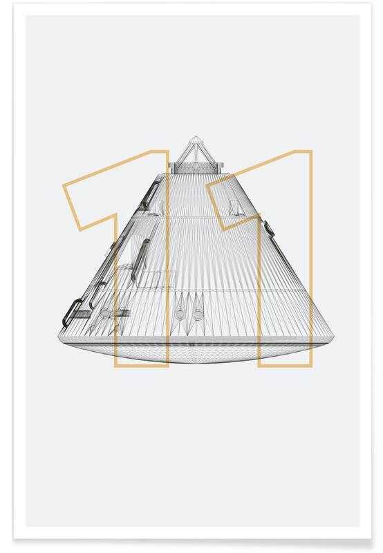 Raumschiffe & Raketen, Apollo 11-Rakete -Poster