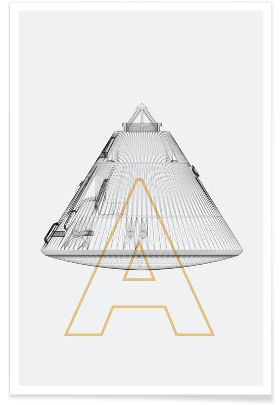 Ruimteschepen en raketten, Apollo 11 ruimteschip poster
