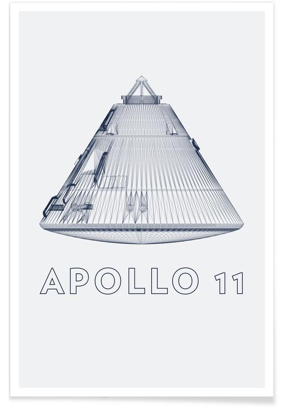 Spaceships & Rockets, Apollo 11 3 Poster