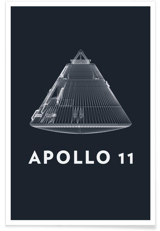 Raumschiffe & Raketen, Apollo Midnight-Rakete -Poster