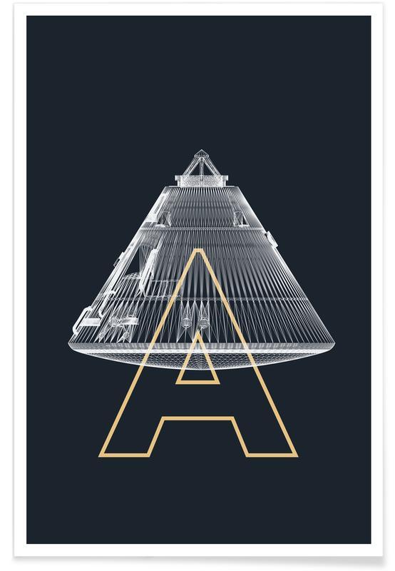 Raumschiffe & Raketen, Apollo Midnight-Raumschiff -Poster