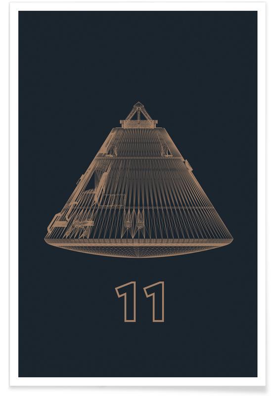 Raumschiffe & Raketen, Apollo Midnight 3 -Poster
