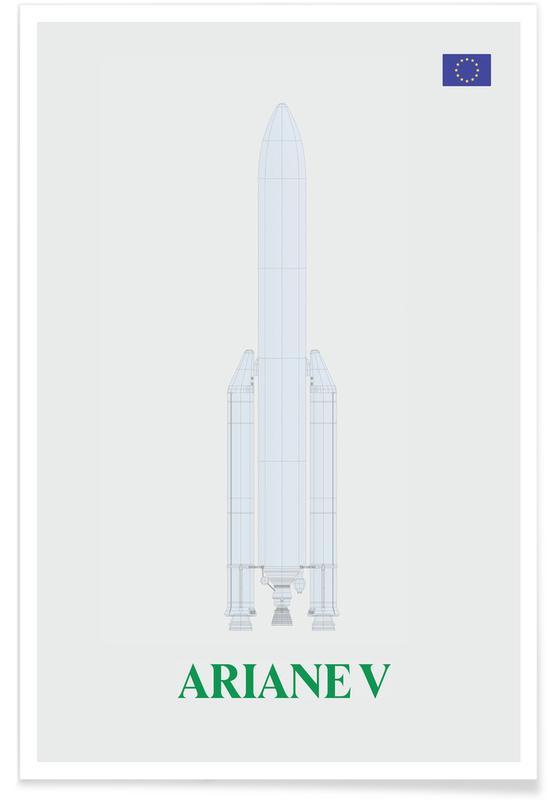 Fusées et vaisseaux spatiaux, Fusée Ariane V affiche