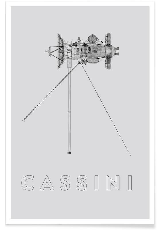 Raumschiffe & Raketen, Cassini-Raumschiff -Poster