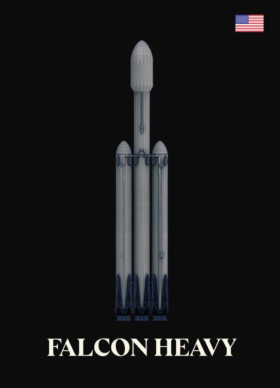 Falcon Heavy 2 Canvas Print