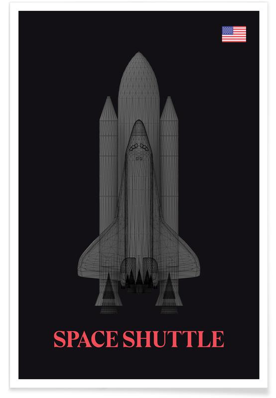 Spaceships & Rockets, NASA Space Shuttle Spaceship Poster