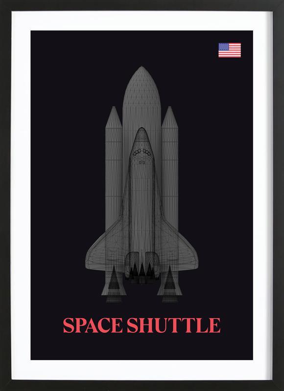 NASA Space Shuttle 2 -Bild mit Holzrahmen