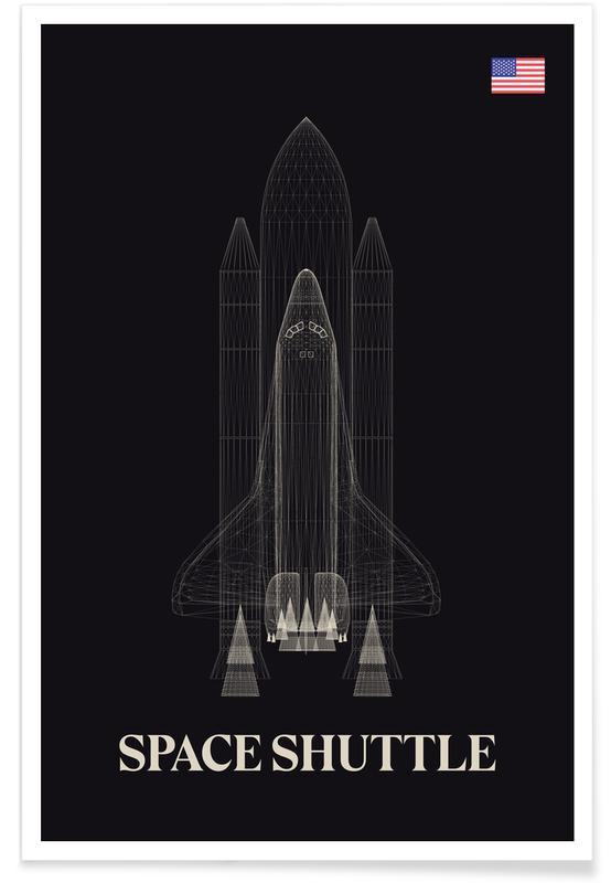 Raumschiffe & Raketen, NASA Space Shuttle 3 -Poster