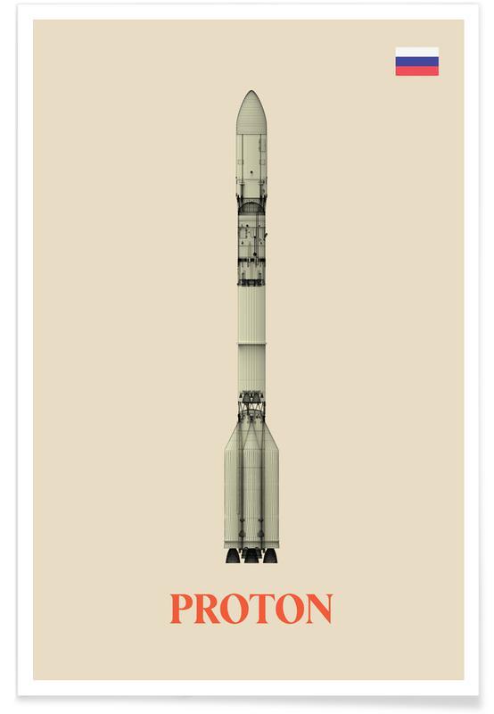 Fusées et vaisseaux spatiaux, Vaisseau spatial Proton affiche