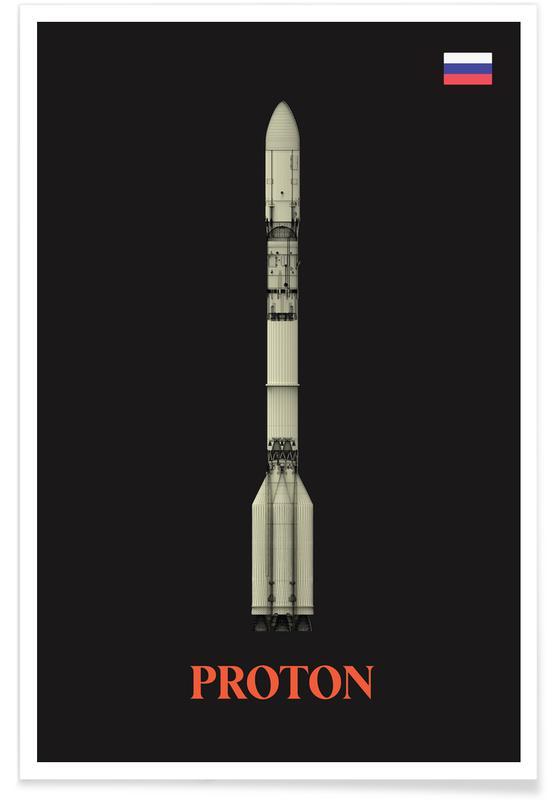 Fusées et vaisseaux spatiaux, Fusée Proton affiche