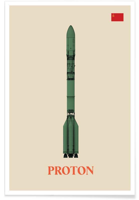 Fusées et vaisseaux spatiaux, Proton 3 affiche