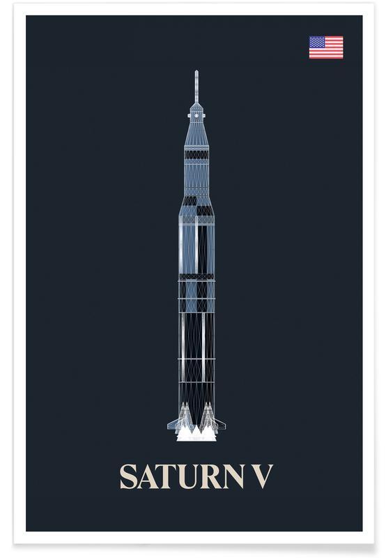 Raumschiffe & Raketen, Saturn V-Rakete -Poster