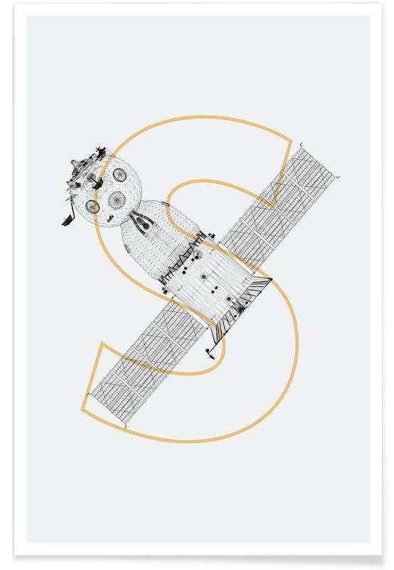 Raumschiffe & Raketen, Sojus Modul-Rakete -Poster