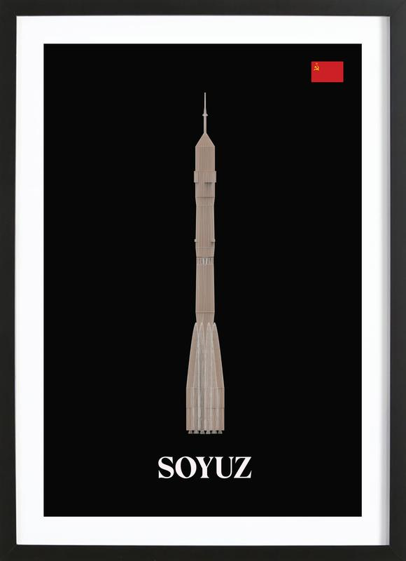 SOYUZ 1 -Bild mit Holzrahmen