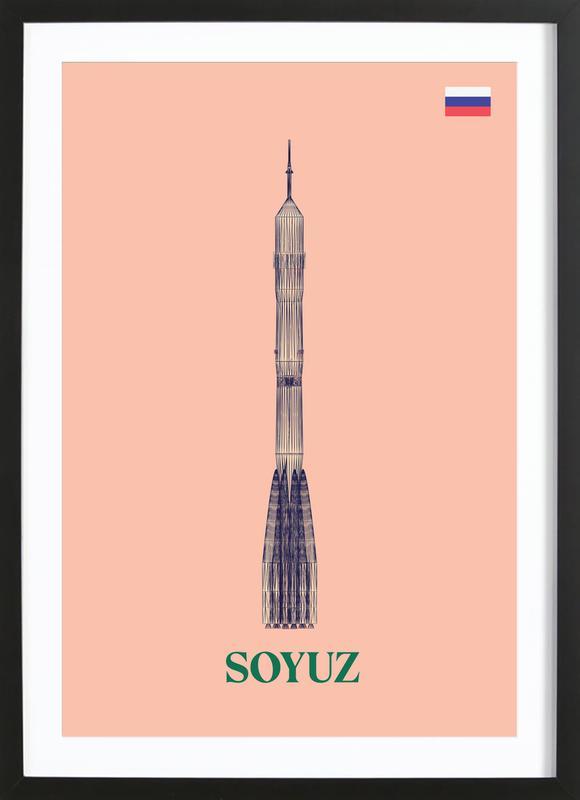 SOYUZ 3 -Bild mit Holzrahmen