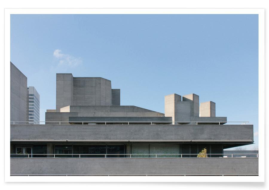 Détails architecturaux, London Royal National Theatre affiche