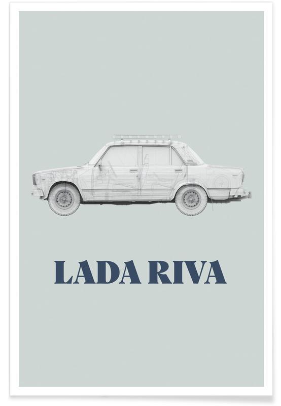 Détails architecturaux, Lada Riva affiche