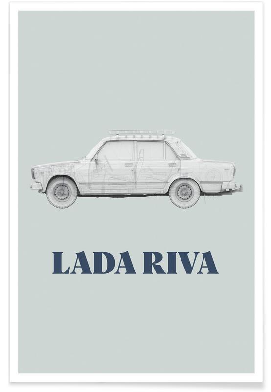 Architekturdetails, Lada Riva -Poster