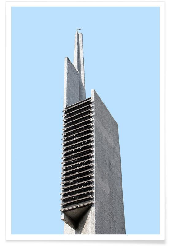 Détails architecturaux, Berlin Brutalist Church 4 affiche