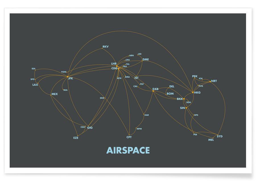 , Airspace Map Dark affiche