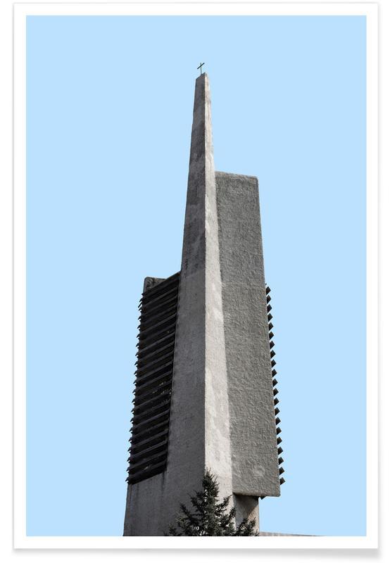 Détails architecturaux, Berlin Brutalist Church affiche