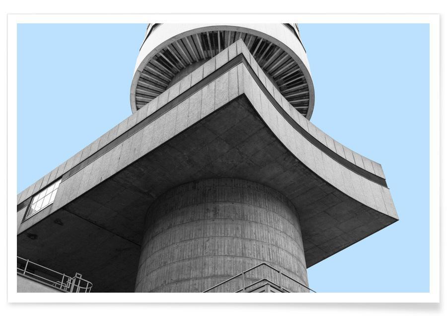 Détails architecturaux, London Bt Tower affiche