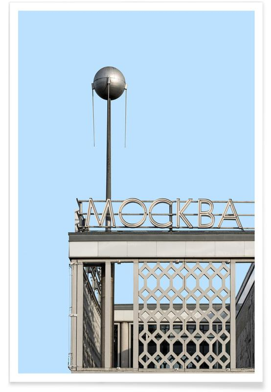 Architectural Details, Berlin Moscow Spunik Poster