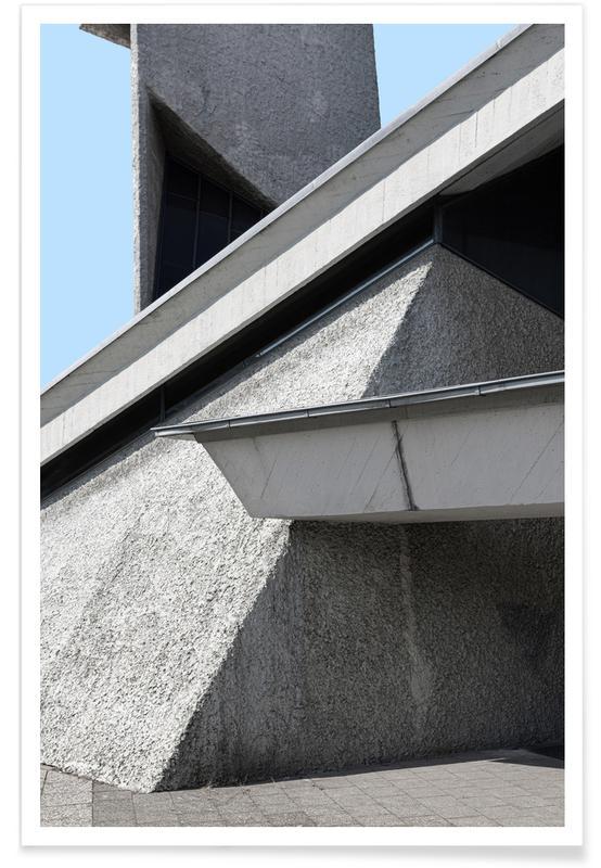 Architekturdetails, Berlin Brutalist Church 3 -Poster