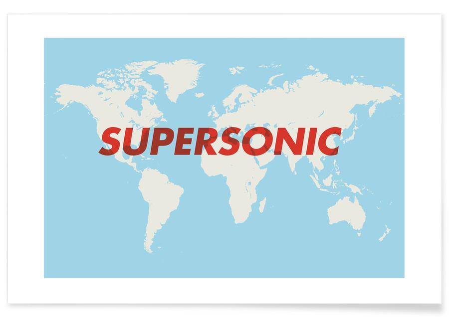 Cartes du monde, Supersonic affiche