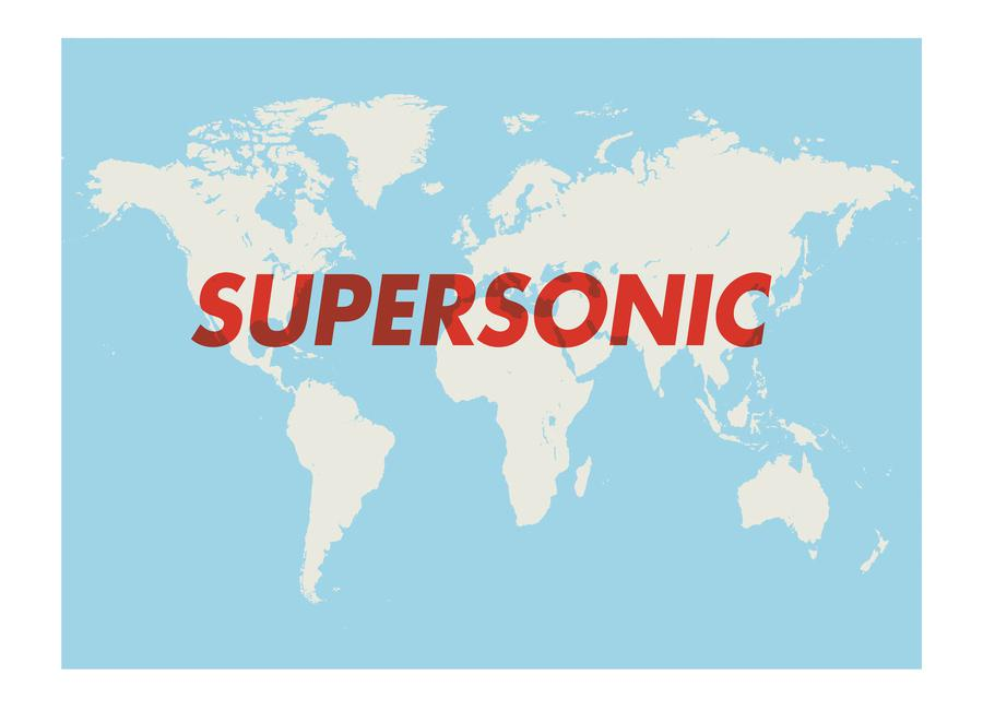 Supersonic canvas doek