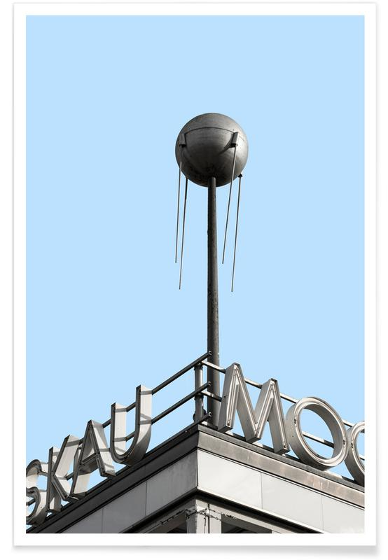 Architekturdetails, Berlin Moscow Spunik 2 -Poster