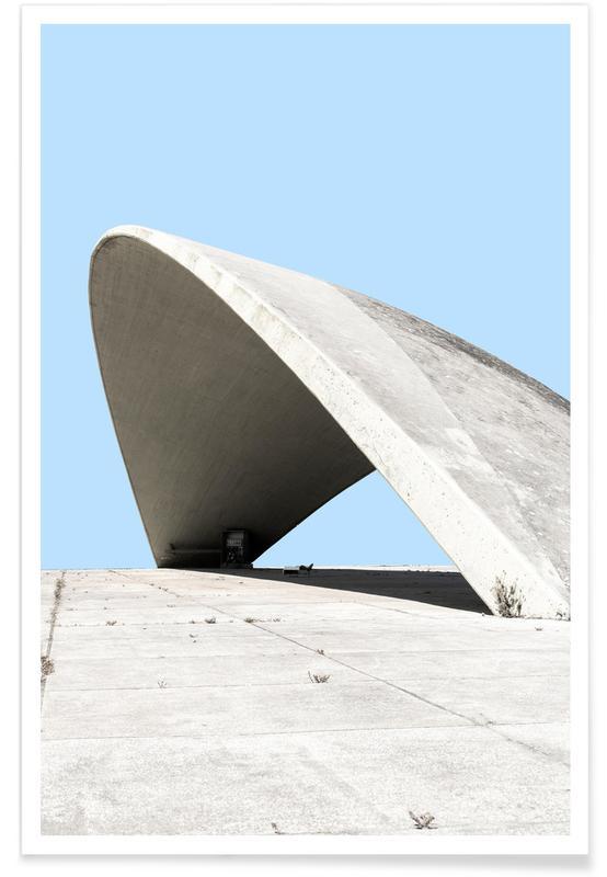 Architectural Details, Niemeyer 1 Poster