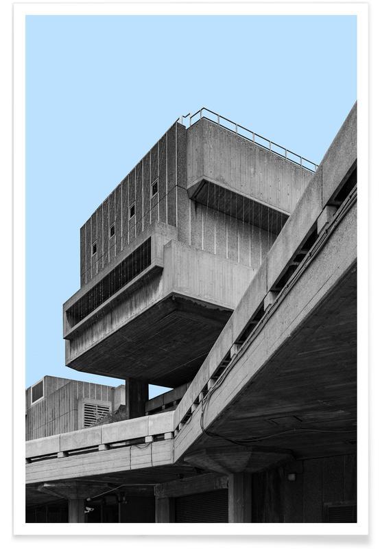 Détails architecturaux, London Southbank Center affiche