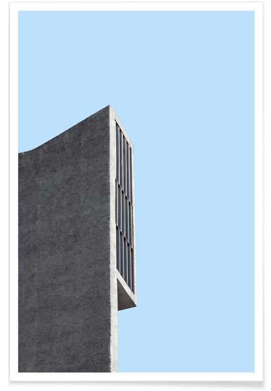 Détails architecturaux, Berlin Brutalist Church 2 affiche