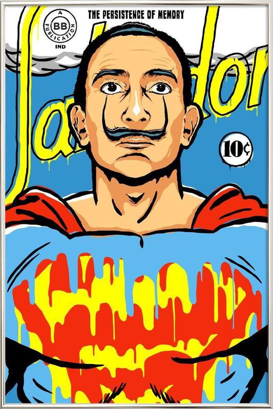 The World Needs a Salvador Poster in Aluminium Frame
