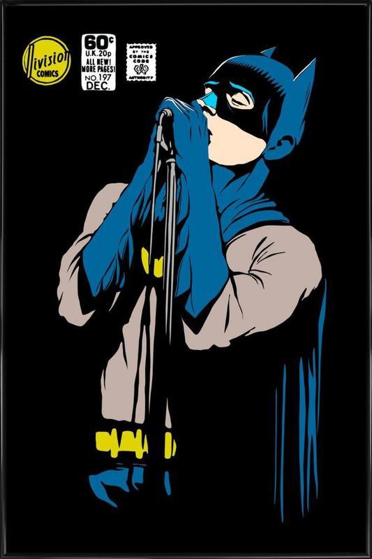 Post-Punk Dark Knight - Shadowplay -Bild mit Kunststoffrahmen